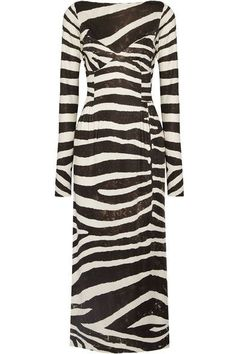Marc Jacobs - Zebra-print Stretch-jersey Dress - Black - US8