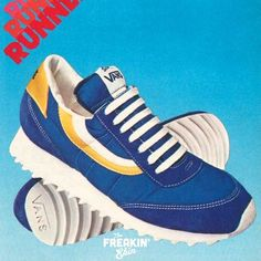 Vans Serio 1982 vintage sneaker ad @ The Freakin' Ekin New Sneakers, Adidas Sneakers, Retro 2, Vintage Sneakers, Adidas Samba, Vans, Fresh, Photo And Video, Shoes
