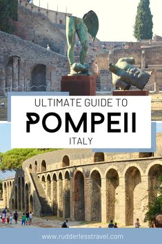 Pompeii, Italy travel guide! This post covers everything you need to know about one of Italy's most beautiful travel destinations. #Italy #Europe #Pompeii European Travel Tips, Italy Travel Tips, Rome Travel, Travel Europe, Beautiful Places To Visit, Cool Places To Visit, Pompeii Italy, Italy Destinations, Things To Do In Italy