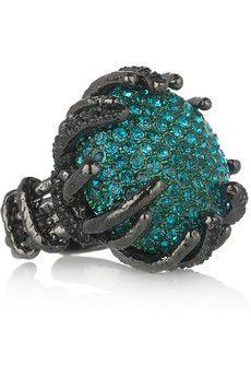 Amazing Roberto Cavalli crystal ring