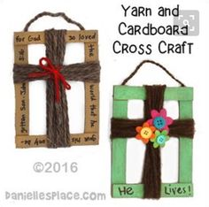 Cardboard and Yarn Cross Craft for Children's Ministry from www.daniellesplac… Cardboard and Yarn Cross Craft for Children's Ministry from www. Bible Story Crafts, Bible School Crafts, Kids Bible Crafts, Crafts For Children, Religious Kids Crafts, Prayer Crafts, Faith Crafts, Jesus Crafts, Easter Religious