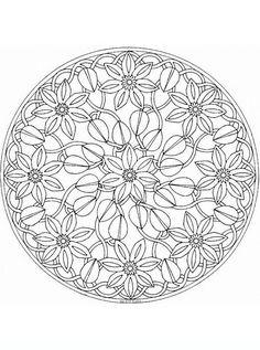 mandala_fiori9 disegni da colorare per adulti