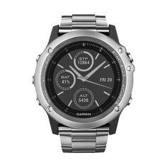 Garmin - fenix 3 Sapphire GPS Watch - Silver