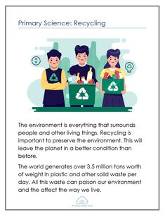 Primary Science: Recycling - Mr Greg's English Cloud