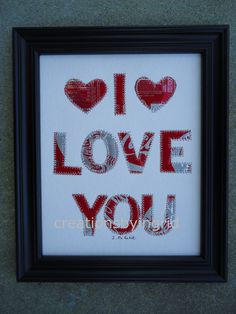 Soda Pop Can Art Letter I  LOVE  YOU 8 x 10 by creationsbyingrid1, $29.00