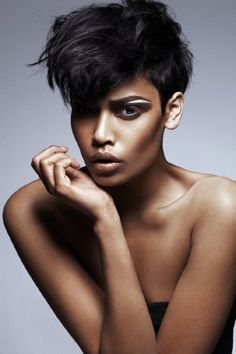 Amira Ahmed. Digging the feminine, edgy, anime feel of this makeup and hair look!