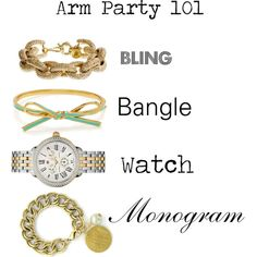 Arm Party 101 by threehipchicks on http://www.threehipchicks.com/collections/monogrammed-jewelry/products/gold-kissed-monogrammed-link-bracelet-round-charm