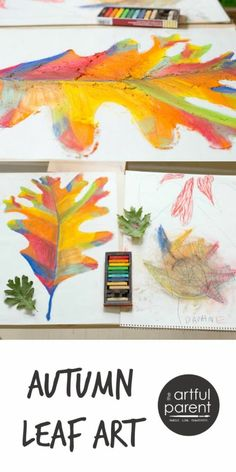 Make beautiful autumn leaf art for the wall with chalk pastels. Let nature be your inspiration; try this autumn leaf art activity with the kids or yourself. Deco Miami, Fall Crafts, Arts And Crafts, Art Et Nature, Fall Art Projects, Leaf Projects, Ecole Art, Art Lessons Elementary, Chalk Pastels