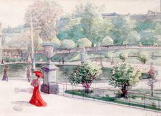 The Athenaeum - Luxembourg Garden (Maximilien Luce - )