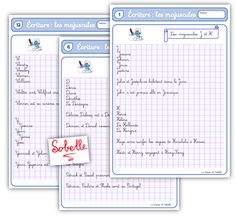 Fichier d'écriture CE2-CM1 : les majuscules   La Trousse de Sobelle   Bloglovin'