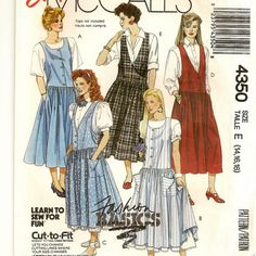 A Drop-Waisted Jumper and Ruffled Half Petticoat Pattern, Vintage 1989