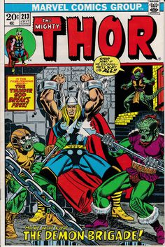 Thor 213  July 1973 Issue  Marvel Comics  Grade by ViewObscura