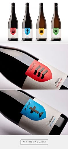 Mustilli Wine - Packaging of the World - Creative Package Design Gallery… Wine Bottle Design, Wine Label Design, Wine Bottle Labels, Beverage Packaging, Bottle Packaging, Brand Packaging, Logo Label, Beer Label, Wine Logo