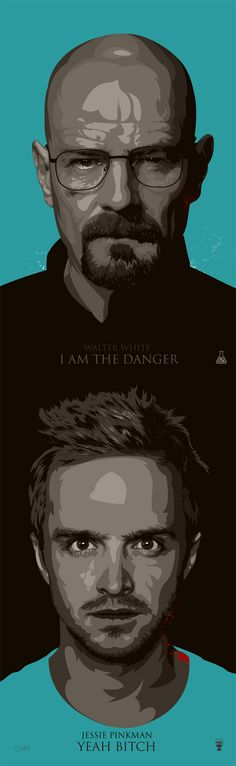 breaking bad fan art / walter white / jessie pinkman by ciaran monaghan, via behance. I have never seen a TV series as compelling to watch as a great book is compelling to finish. Best script writing ever. Walter White, George Clooney, Bad Fan Art, Bad Art, Serie Breaking Bad, D Jango, Fantasy Anime, Jesse Pinkman, Great Tv Shows