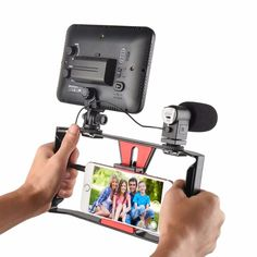 SUPON Phone Stabilizer Movies Camera Holder Phone Clip Hot Shoe Mount  For iPhone 7 Plus Samsug Smartphone Mobile Phone