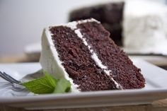 Moist Devils food cake. Substitute dark hot chocolate for coffee.