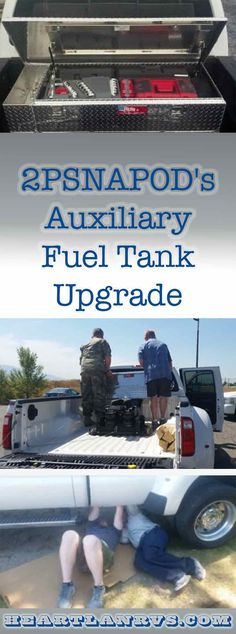 It's not always easy or convenient to fuel up our 2016 long bed dually pickup truck as we travel. Our Heartland Landmark is 40 feet 6 inches long and needs a clearance of at least 14 feet for us to enter safely. Michael is an expert at getting in