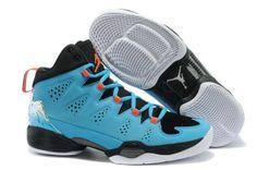 9fb789512c50dd Air Jordan Melo M10 Black Dark Powder Blue Team Orange White Cheap Jordan