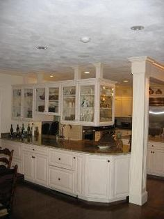 white with mocha glaze, raised panel doors and drawer fronts, Swampscott, MA by Oceanside Cabinets