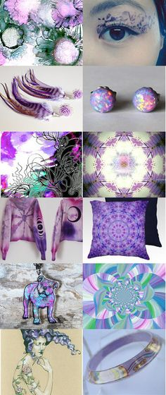 Psychedelic Time by 3buu on Etsy--Pinned with TreasuryPin.com