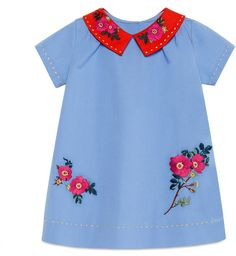 Gucci Gucci Stretch Cotton Poplin Dress (Baby Girls) available at - Gucci Baby Clothes - Ideas of Gucci Baby Clothes - Gucci Gucci Stretch Cotton Poplin Dress (Baby Girls) available at Outfits Niños, Short Outfits, Kids Outfits, Gucci Baby Clothes, Designer Baby Clothes, Designer Dresses, Baby Girl Dresses, Baby Dress, Baby Girls