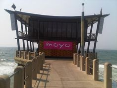 Moyo Pier Bar at the end of the pier at uShaka Marine World Stuff To Do, Things To Do, Playground, South Africa, Tropical, Ocean, Bar, City, Travel