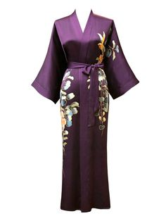 8f461161bd Every lady should have a dressing gown - Silk Kimono Dressing gown Silk Robe  Long