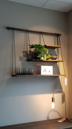 Bolia oak shelves on display