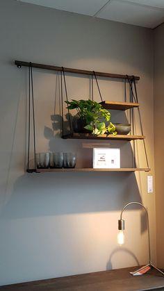 Bolia oak shelves on display