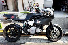 Z-Turbo - RocketGarage - Cafe Racer Magazine Cafe Racer Bikes, Cafe Racer Motorcycle, Cafe Racers, Bobber Custom, Cafe Racer Magazine, Moto Cafe, Kawasaki Motorcycles, Street Fighter, Scrambler