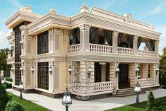 Exterior Design in Dubai, Exterior Villa Dubai, Photo 8 - Luxury Homess Bungalow House Design, Modern House Design, Bungalow Exterior, Architecture Design, Modern Tropical House, Interior Design Gallery, Design Interiors, Fancy Houses, Mansions Homes