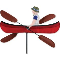 Item #21877 Premier's WhirliGigs capture all the fun of this traditional American wind decoration. Compared to metal or wooden devices, the durable SunTex(TM) fabric wings spin in lower breezes. A hos