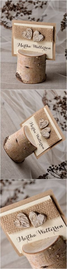 Rustic Country Burlap and Birch Real Wood Wedding Table .- Rustikales Land Sackleinen und Birke Echtholz Hochzeit Tischkarten Rustic country burlap and birch real wood wedding place cards … – - Wedding Places, Wedding Place Cards, Wedding Table, Diy Wedding, Rustic Wedding, Wedding Ideas, Trendy Wedding, Wedding Burlap, Wedding Pictures