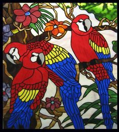 Stained Glass Art | Inspired from a holiday in the tropics. The window is very detailed ...