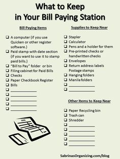 To get your finances in order, this bill paying station checklist will help you keep everything together so you can do your bills quickly.