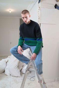 Men's striped sweater