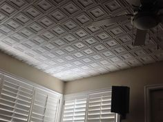 Decorative Ceiling Tiles In Living and Dining Rooms