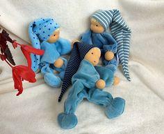 Minipüppchen für Neugeborene nach Art der Waldorfpuppe - für Neugeborere geeignet viele Farbkombinationen- Bestellung gern auch nach individullen Wünschen