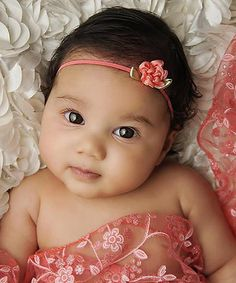 Look what I found on #zulily! Coral Lace Triangle Wrap & Headband #zulilyfinds