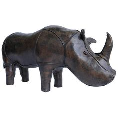 Leather Rhino by Dimitri Omersa for Abercrombie & Fitch