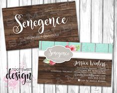 Lipsense Business Card, Lipsense by SeneGence Marketing Kit Branding for Consultants and distributors, best rustic wood vintage shabby chic design style on Etsy