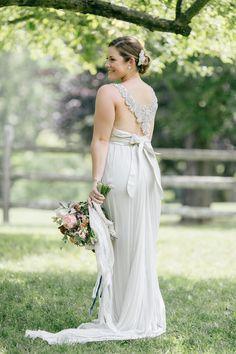 Love the back her wedding dress