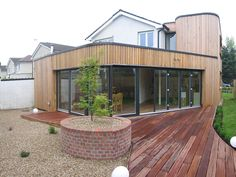 A house for a pianist. This project involved the complete rebuilding of an existing two bed estate house and a extension. Dublin House, Source Of Inspiration, Cladding, Home Builders, Extension Ideas, Extensions, Deck, Building, Outdoor Decor