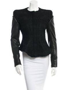 Givenchy Leather Trim Jacket
