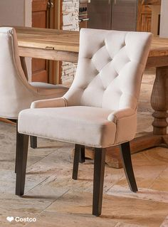 The Curtis Dining Chair 2-Pack combines a classic style with some modern twists.  They are beautifully upholstered in a fabric that is as soft as it is luxurious. Whether they adorn your living room or are used around your dining table, the hour-glass shape of the Curtis chairs are inviting for you and all of your guests.