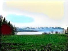 Zurich, Mountains, Nature, Travel, Painting, Art, Art Background, Naturaleza, Viajes