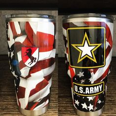 Custom #American Flag Yeti Ramblers! They turned out great. Get yours dipped today: voylesperformance@gmail.com