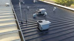 Report outlines scope of work for a liquid rubber roof coating to industrial metal roof. Metal Roof Coating, Roofing Supplies, Spray Foam, Roof Repair, Deck, Industrial, Outdoor Decor, Sign, Flat