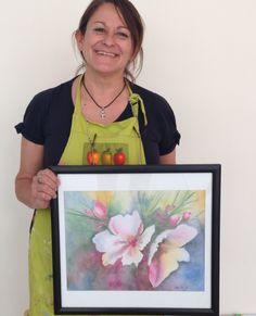 Obra de Clau, alumna de 1er año año del #profesorado de #pinturadecorativa #flower #art