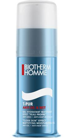 T-PUR ANTI-OIL & WET SOIN HYDRATANT GEL HYDRATANT QUOTIDIEN MATIFIANT - PEAU GRASSE/BRILLANTE Humidité, chaleur, coups de chaud, stress soudain ou simplement une peau grasse… la peau brillante est un problème que connaissent beaucoup d'hommes.  Ce gel hydratant matifiant laisse la peau propre et nette toute la journée. Enrichi aux extraits anti-bactériens d'algue marine + zinc pour réguler le sébum et à la perlite minérale absorbante pour contrôler les excès d'humidité.